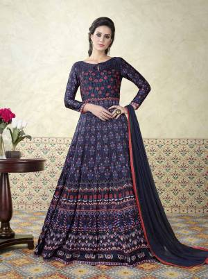 To Complement Your Elegant Look, We Presents This Navy Blue Colored Salwar Suit. Featuring An Eye-Catching Color Combination,This Suit Is Set In Modal Satin Fabric Paired With A Navy Blue Colored Bottom In Santoon Making It Even More Auspicious. The Style Is Modern And Very Lady Like This Suit Will Surely Add More Charm To Your Femininity. This Pretty Suit Just For You.