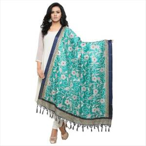 Give Your Simple Suit An Enhanced Look By Pairing It Up With This Beautifiul Turquoise Blue Colored Dupatta. This Dupatta Is Fabricated On Cotton Art Silk Beautified With Prints All Over. Buy Now.