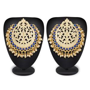 Grab This Beautiful Designer Pair Of Ethnic Earrings To Give An Enhanced Look To Your Simple Ethnic Attire.