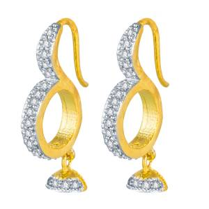 Here Is A Pretty Pair Of Earrings Than Can Be Paired Any Simple Kurti Or Even With A Heavy Dress. Also It Is Golden Color, It Suits With Any Colored Attire.