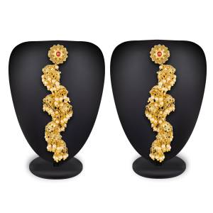 Lovely Earrings Set Is Here With A Very Unique Design With Multiple Jhumkas In One. This Pretty Designer Pair Will Earn You Lots Of Compliments From Onlookers.