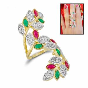 Grab This Heavy Designer Ring To Pair Up With Your Trendy Ethnic Attire Which Gives A Superb Look To Your Hand.