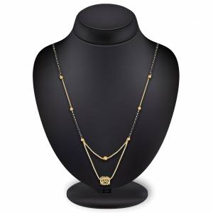 Give Your Nekline An elegant Look Wearing This Pretty Mangalsutra Which Is Light Weight And Can Be Paired With Any Type Or Colored Attire. Buy Now.