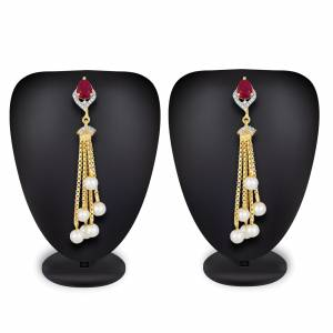 Give More Pretty Look To Your Attire By Pairing It Up With This Lovely Pair Of Earring Which Can Suit Wilth Any Colored Traditional Attire. Also It Is Light In Weight And Easy To Carry All Day Long.