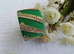 Grab This Beautiful Heavy Kada Type Bangle Which Is Wore Single In Hand. And It Does Not Need Any Other Bangle To Be Paired With. You Can Pair It Up With Any Same Or Contrasting Colored Ethnic Attire.