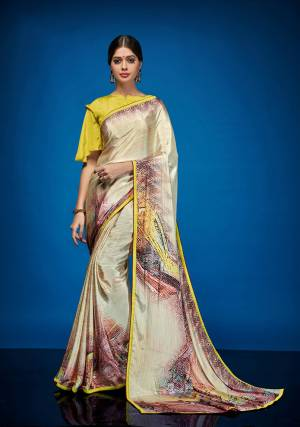 This Season Adorn A Beautiful And Colorful look Wearing This Pretty Saree Fabricated On Crepe Silk Paired With Crepe Silk Fabricated Blouse. It Has Attractive Abstract Prints All Over The Saree. Buy Now.