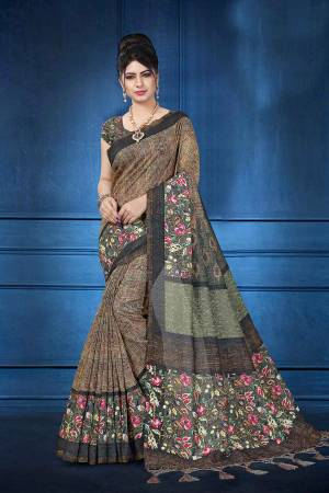 Grab This Pretty Printed Saree For Your Semi-Casuals. This Saree And Blouse Are Fabricated On Art Silk Beautified With Digital Prints All Over It, This Saree Is Light In Weight And Easy To Carry All Day Long.
