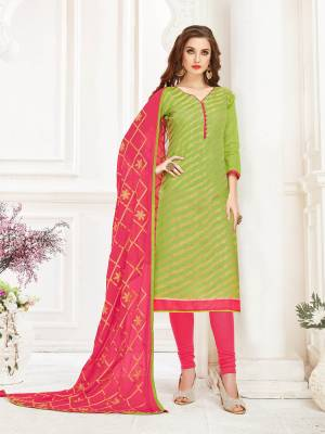 You Will Earn Lots Of Compliments Wearing This Designer Straight Suit Fabricated On Jacquard Silk Paired With Cotton Bottom And Chiffon Dupatta.You Can Get This Stitched As Per Your Desired Fit And Comfort. Buy This Dress Material Now.