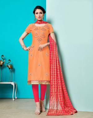 You Will Definitely Earn Lots Of compliments Wearing This Designer Straight Suit, Get This Beautiful Cotton Based Dress Material Stitched As Per Your Desired Fit And Comfort. Buy Now.