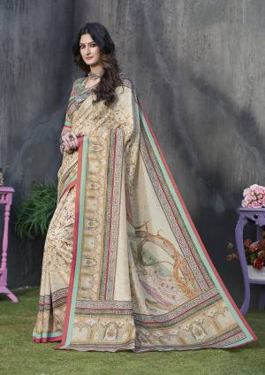 Adorn A Rich And Elegant Look Wearing This Pretty Silk Based Saree. This Saree And Blouse Are Fabricated On Tussar Art Silk Beautified With Prints All Over. This Saree Is Light In Weight And Easy To Carry All Day Long.