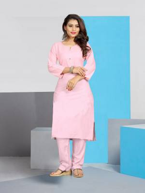 For Your Casuals Or Office Wear. Grab This Pretty Readymade Plain Kurti Fabricated On Cotton. This Kurti Is Light In Weight And Easy To Carry All Day Long. Buy Now.