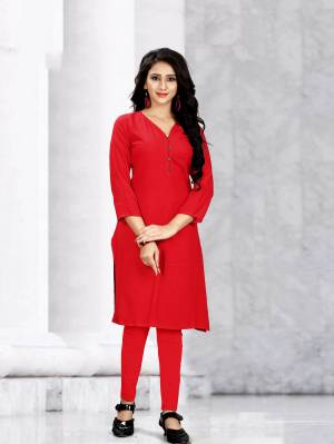 Beat The Heat This Summer With Some Casuals Like These Readymade Kurti Fabricated On Rayon. This Pretty Kurtis Are Available In All Regular Sizes Which Also Ensures Superb Comfort All Day Long.