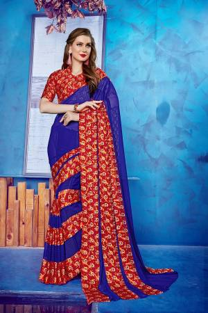 Look Pretty In this Simple Casual Wear Saree Fabricated On Georgette Beautified With Satin Fabricated Blouse. It Is Beautiufied With Printed Satin Patta. Also It Is Light In Weight And Comfortable To Carry Which Is Perfect For Summer. Buy Now.