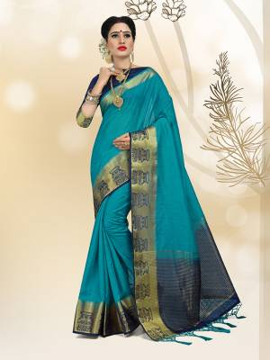 Flaunt Your Rich And Elegant Taste In Royal Looking Silk Based Saree. This Saree And Blouse Are Fabricated On Rich Linen Silk Fabric Which Will Defintely Earn You Lots Of Compliments From Onlookers. Buy Now.