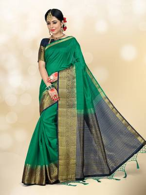 Celebrate This Festive Season Wearing This Beautiful Silk Based Which Gives A Rich Look To Your Personality. Also This Art Silk Fabricated Saree Is Light In Weight And Quite Durable Fabric. Buy This Now.