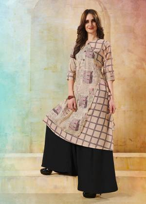 Look Pretty In This Most Amazing And Lovely Pastel Pink Colored Readymade Kurti Fabricated On Rayon. This Kurti Is Light Weight And Esnures Superb Comfort All Day Long.