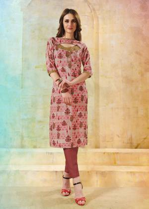 Go Colorful With This Multi Colored Readymade Kurti Fabricated On Rayon. This Kurti Is Beautified With Floral Prints.