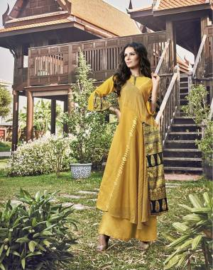Celebrate This Festive With Beauty And Comfort Wearing This Designer Readymade Kurti In Yellow Color Fabricated On Modal Jacquard. It Is Light In Weight And Available In All Regular Sizes. Buy Now.