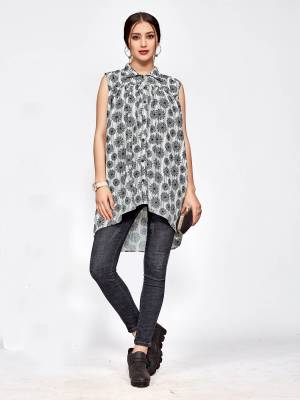 Simple and Elegant Looking Designer Readymade Top Is Here In White And Black Color. You Can Pair This Up Black Or Blue Colored Denim Or Pants.