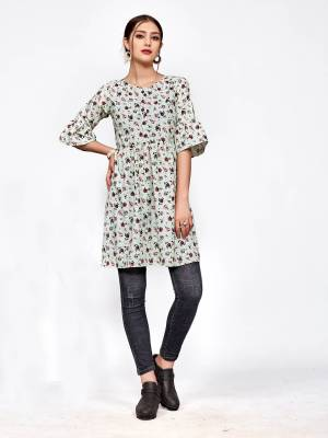 Simple and Elegant Looking Designer Readymade Top Is Here In Pastel Green And Pink Color. You Can Pair This Up Black Or Blue Colored Denim Or Pants.