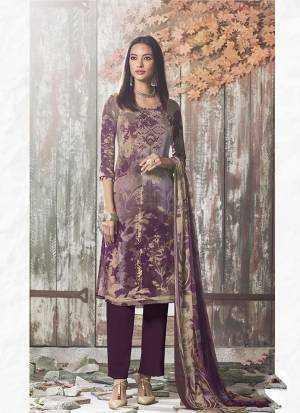 Beat The Heat This Summer Wearing This Simple and Elegant looking Printed Straight Suit In Purple Color. This Dress Material Is Fabricated On Crepe Paired With Georgette Fabricated Dupatta. Buy This Pretty Digital Printed Suit Now.