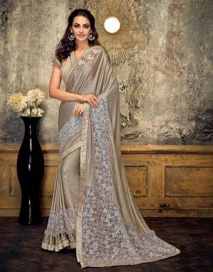 Let these festivities be a shiny affair for you and your style. Drape this pretty saree and be ready to shine through the night.