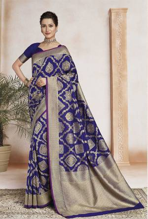 Grab This Very Beautiful Designer Weaved Saree In Blue Color . This Saree And Blouse Are Fabricated On Soft Art Silk. Its Fabric Will Give A Rich Look To Your Personality.