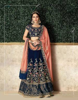 Rendering your wedding imagination , this lehenga brings the magic of threads and needle to life and makes it for a charming pick this season.