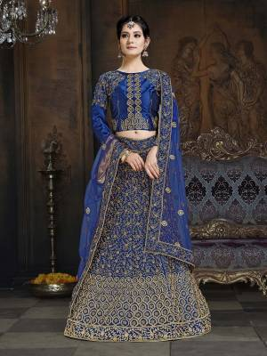 Shine Bright In This Attractive Looking Heavy Designer Lehenga Choli In Pink Color. Its Blouse And Lehenga Are Satin Based Paired With Net Fabricated Dupatta. It Is Beautified With Heavy Coding And Stone Work. Buy Now.