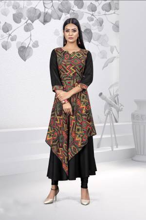 For Your Casuals Or Semi-Casuals, Grab This Readymade Kurti Fabricated on Rayon. Its Fabric Is Light In Weight And Easy To Carry All Day Long.