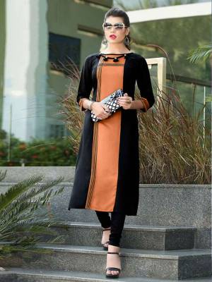 Add Some Casuals with This Readymade Straight Kurti In Black And Orange Color Fabricated On Cotton. Its Fabric Is Soft Towards Skin And Easy To Carry All Day Long. Also It Is Available In All Regular Sizes. Buy Now.