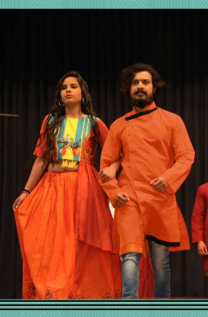 Grab This Special Combo Of Men And Women In Orange Color Which Is Fully Stitched And Available In All Regular Sizes. In This Combo You will Be Getting A Lehenga & Choli With Matching Men's Wear Kurta. All Three Pieces Are Fabricated On Khadi Cotton Which Is Light Weight, Durable And Easy To Carry Throughout The Gala. Buy Now.