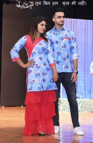 Grab This Special Combo Of Men And Women In Light Blue And Red Color Which Is Fully Stitched And Available In All Regular Sizes. In This Combo You will Be Getting A Kurti And Sharara With Matching Men's Wear Shirt. All Three Pieces Are Cotton Based Which Is Light Weight, Durable And Easy To Carry Throughout The Gala. Buy Now.