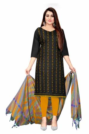 Beautiful Designer Slub Cotton Embroidery Salwar Suit