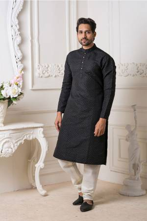 Grab This Amazing Pair Of Kurta And Chudidar For Men Fabricated On Art Silk.?This Kurta Is Suitable For Festive Wear Or Any Wedding Functions. It Is Light In Weight and Can Be Paired With Any Kind Of Bottom Like Chudidar, Pyjama Or Even Denims. Its Fabric Is Soft Towards Skin And Avialable In All Sizes. Buy Now.