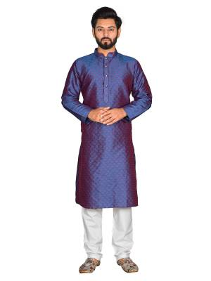 Grab This Amazing Pair Of Kurta And Chudidar For Men Fabricated On Brocade And Cotton Respectively. This Kurta Is Suitable For Festive Wear Or Any Wedding Functions. It Is Light In Weight and Can Be Paired With Any Kind Of Bottom Like Chudidar, Pyjama Or Even Denims. Its Fabric Is Soft Towards Skin And Avialable In All Sizes. Buy Now.
