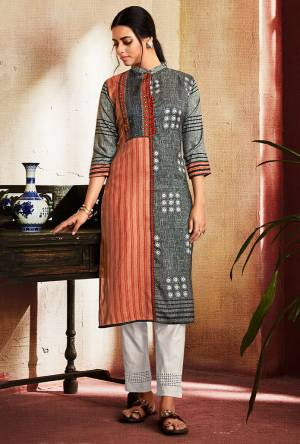 For Your Casual Or Semi-Casual Wear, Grab This Readymade Straight Kurti Fabricated On Soft Silk. This Pretty Kurti Is Beautified With Digital Prints All over. It Is Light Weight And Easy To carry All Day Long.