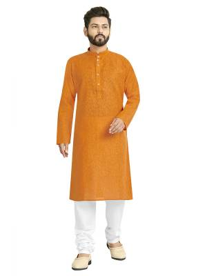 Take your ethnic style quotient to the next level by wearing this fashionable kurta set. which has been designed keeping the latest trends in mind. This set is a must have in a men's ethnic wardrobe. Tailored from finest fabric and fashioned with a banded collar for a dash of style. It will augment your look and make you the centre of attraction at any occasion.