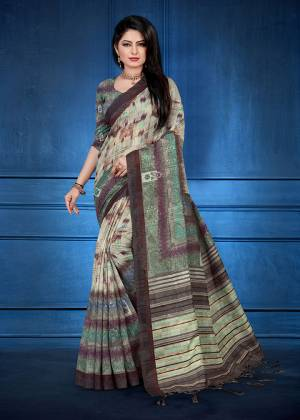 For Your Semi-Casual Wear, Grab This Printed Saree Multi Color. This printed Saree And Blouse Are Fabricated On Handloom Silk Which Is Gives Rich Look To Your Personality. Also It Is Durable And Easy To Care For.