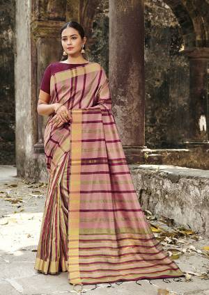 Rich And Elegant Looking Designer Saree Is Here To Add Into Your Wardrobe In Light Pink Color Paired With Dark Pink Colored Blouse. This Saree Is Fabricated On Cotton Silk Paired With Art Silk Fabricated Blouse. It Is Light Weight, Durable And Easy To Carry All Day Long.