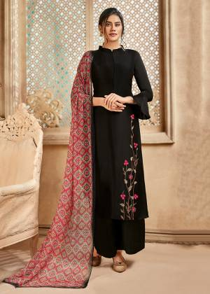 Grab This Very Beautiful And Elegant Looking Designer Straight Suit In Mauve Color Paired With Multi Colored Dupatta. Its Pretty Elegant Embroidered Top Is Fabricated On Satin Silk Paired With Santoon Bottom and Viscose Muslin Fabricated Printed Dupatta.