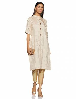 Simple And Elegant Looking Regular Wear Readymade Kurti Is Here In Cream Color. This Kurti Is Light In Weight And Its Fabric Is Durable And Easy To Care For.