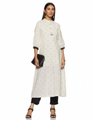 Be It Your College, Home Or Work Place, This Pretty Readymade Pair Of Kurti Is Suitable For All. Its Elegant White And Black Color And Light Weight Fabric Gives Rich Look To Your Personality. Buy Now.