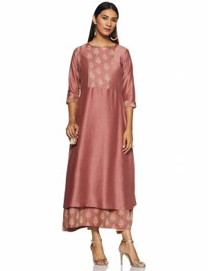 For Your Casual Or Semi-Casual Wear, Grab This Readymade Kurti In Dusty Pink Color . This Kurti Is Light Weight And Available In All Regular Sizes.
