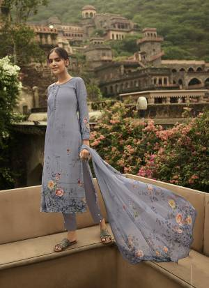 Beat The Heat This Summer Wearing This Simple and Elegant looking Printed Straight Suit In Light Grey Color. This Dress Material Is Fabricated On Crepe Paired With Georgette Fabricated Dupatta. Buy This Pretty Digital Printed Suit Now.