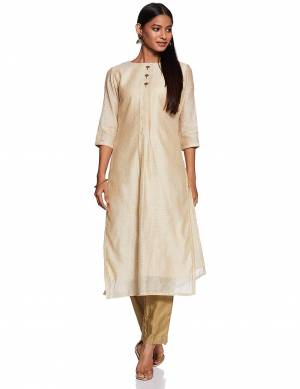 Flaunt your Rich And Elegant Taste Wearing This Readymade Kurti In Cream Color Fabricated On Art Silk. Its Rich Fabric And Color Will Earn You Lots Of Compliments From Onlookers.