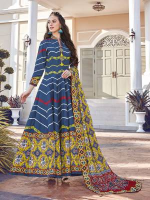 Grab This Very Beautiful Designer Readymade Suit In Blue And Multi Color. Its Lovely Printed Top Is Soft Silk Based Paired With Cotton Leggings And Soft Muslin Fabricated Dupatta. This Readymade Suit Is Beautified With Prints All Over. Also It Is Available In All Regular Sizes. Buy Now.