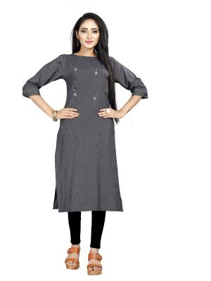 Grab This Simple and Elegant Looking Readymade straight Cut Kurti In Navy Blue color. This Kurti Is Fabricated On Rayon And Comes With A Matching Mask. Buy Now.