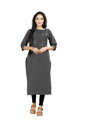 Grab This Simple and Elegant Looking Readymade straight Cut Kurti In Black color. This Kurti Is Fabricated On Rayon And Comes With A Matching Mask. Buy Now.