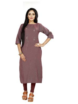 Grab This Simple and Elegant Looking Readymade straight Cut Kurti In Pink color. This Kurti Is Fabricated On Rayon And Comes With A Matching Mask. Buy Now.